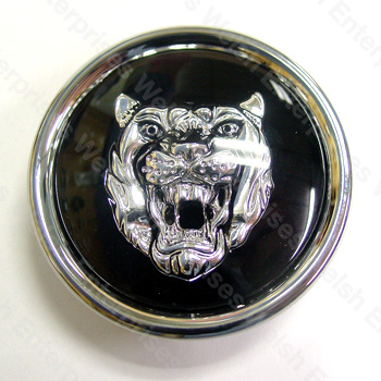 Wheel Motif - Black with Silver Catface