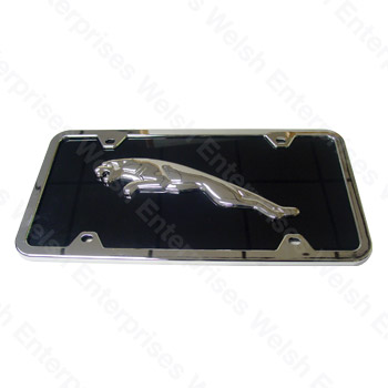 Jaguar Black & Chrome Full License Plate