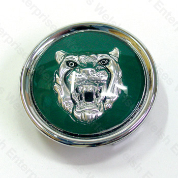 Wheel Motif - Green with Silver Catface