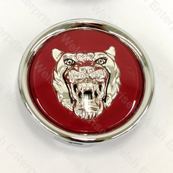 Wheel Motif - Ruby with Silver Catface