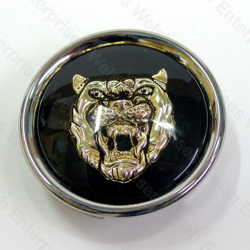 Wheel Motif - Black with Gold Catface